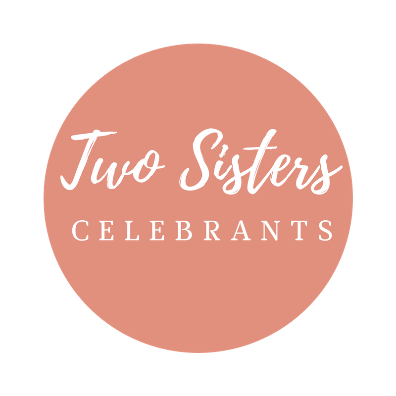 Two Sisters Celebrants logo round on transparent background